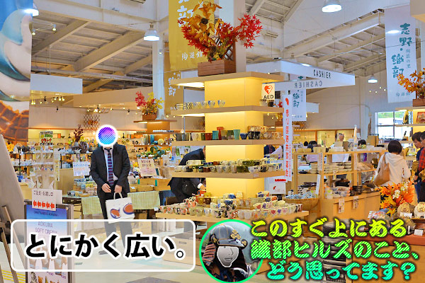 道の駅 志野・織部  美濃焼販売エリアが広い。
