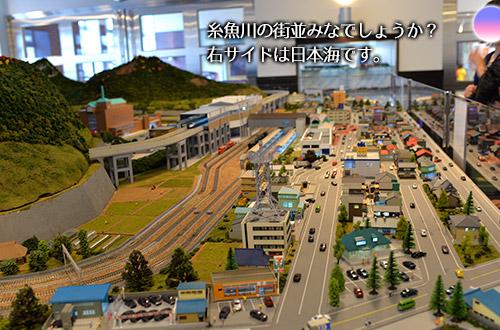 糸魚川の街ジオラマ