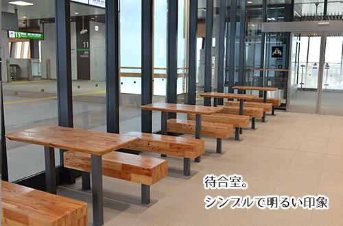 飯山駅の改札内、待合室